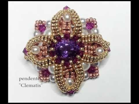 Beautiful pendant and great music too! The tutorial moves rather fast so some beading experience is in order here. Not in English.