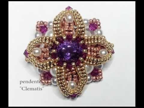 Collaborazione con Perles & Co.Tutorial perline ciondolo Provence. Come fare un ciondolo. - YouTube