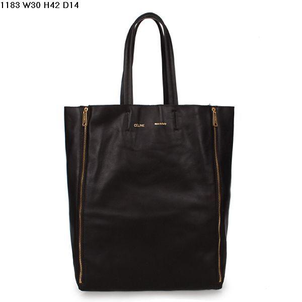 Celine Cabas Calfskin Leather Shopping Bag Dark Coffee 1183                $179.00