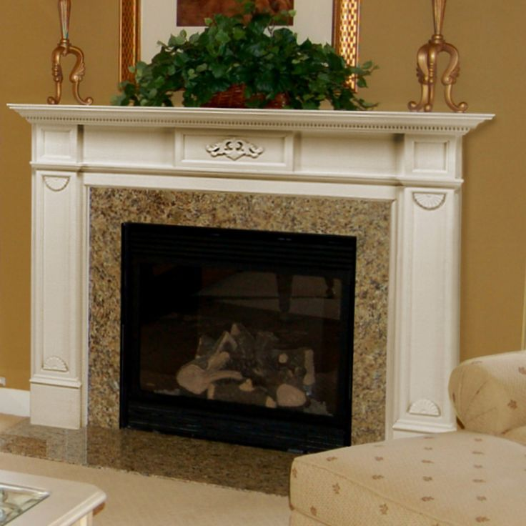 Pearl Mantels Monticello Wood Fireplace Mantel Surround - 530-48