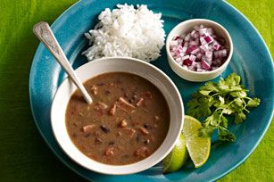 "Slow-Cooker Cuban Black Bean Soup Recipe - Kraft Recipes - I made this for ""Cuban Night"" of my International Foods Week. Very Good! Sort of like Ham and Bean Soup but with a nice flare."