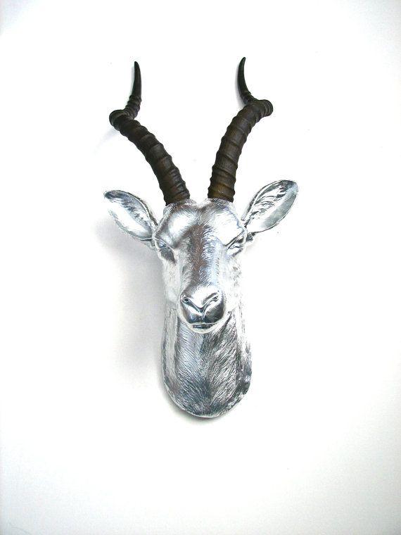 Fausse tête d'antilope taxidermie mural suspendus décoration : Anya les…