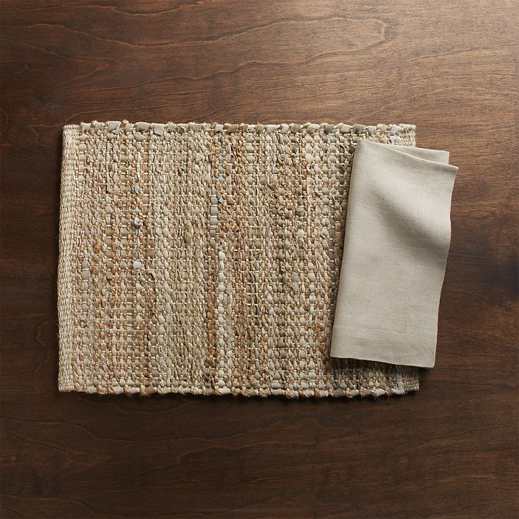 Free Shipping.  Shop Matteo Ivory Placemat.  Artisans weave together ivory recycled leather strips and rustic jute and cotton yarn to create a chunky placemat that's rustic and eclectic.