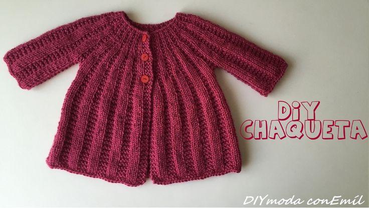 Como tejer Chaqueta de lana para niña 1 de 2 partes
