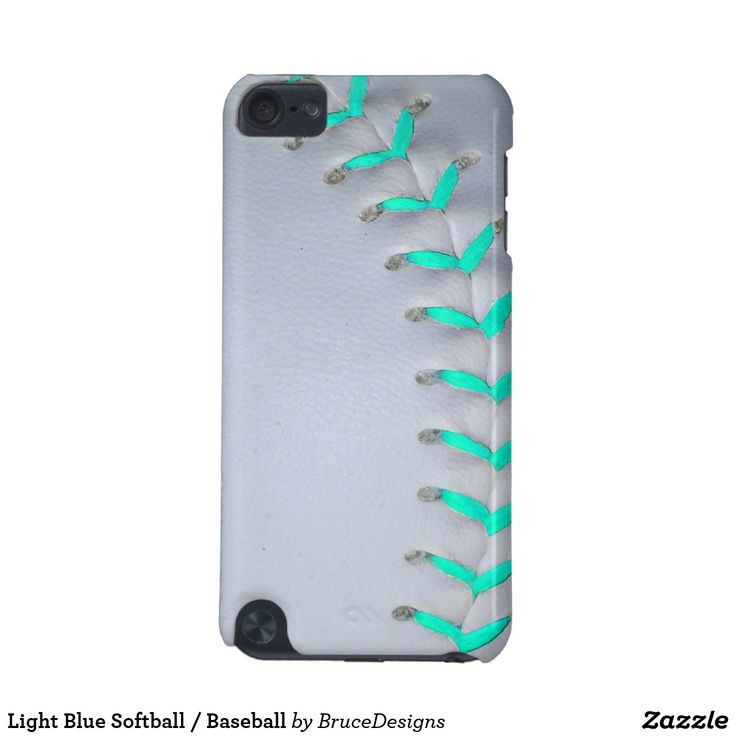 Light Blue Softball / Baseball iPod Touch (5th Generation) Case