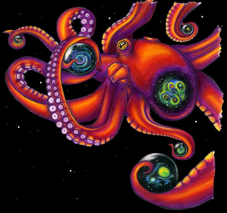 space octopus by reelphine