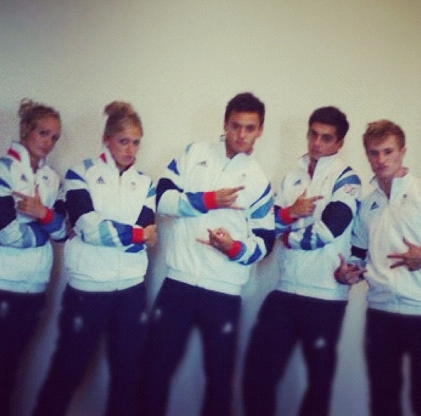 Some of GB diving team