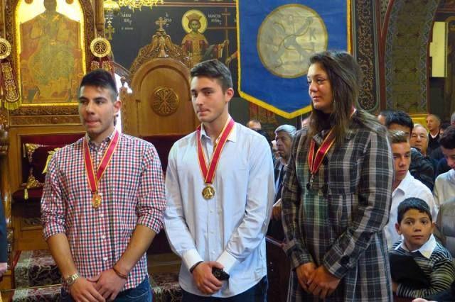 Βράβευση με το χρυσό μετάλλιο της Αγίας Αικατερίνης