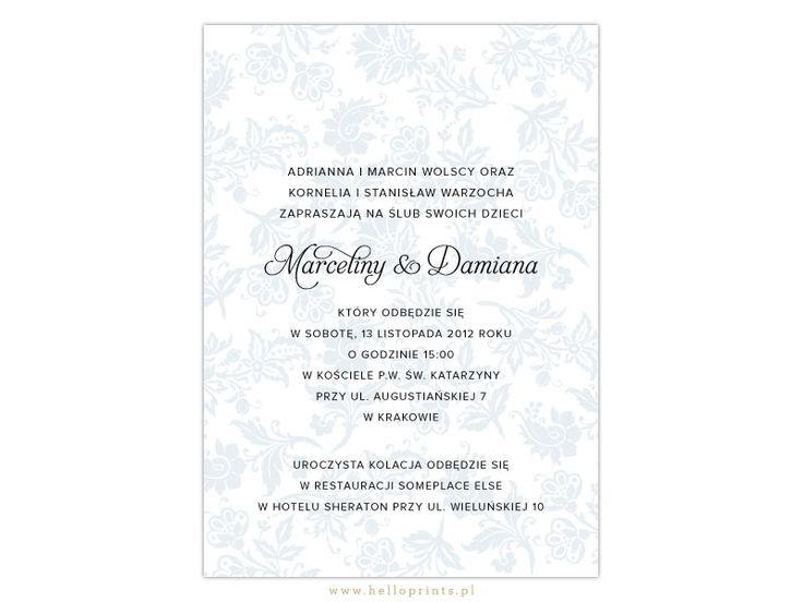 Zaproszenia Ślubne Marcelina - Hello! Prints