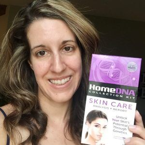 I am beyond excited today to share my HomeDNA Collection Kit Skin Care Analysis Report with you! All I had to do wasswab the inside of my cheek and mail them my DNA sample. This analysis tells you how you rate on 7 Skin Care Categories: Fine Lines & Wrinkles, Collagen Quality, Skin Sensitivity, Pigmentation, Sun Protection, Skin Elasticity and Skin Antioxidants. So, are you ready to hear how I did? I must admit, it was a little nerve wracking opening up the results, see how I did!