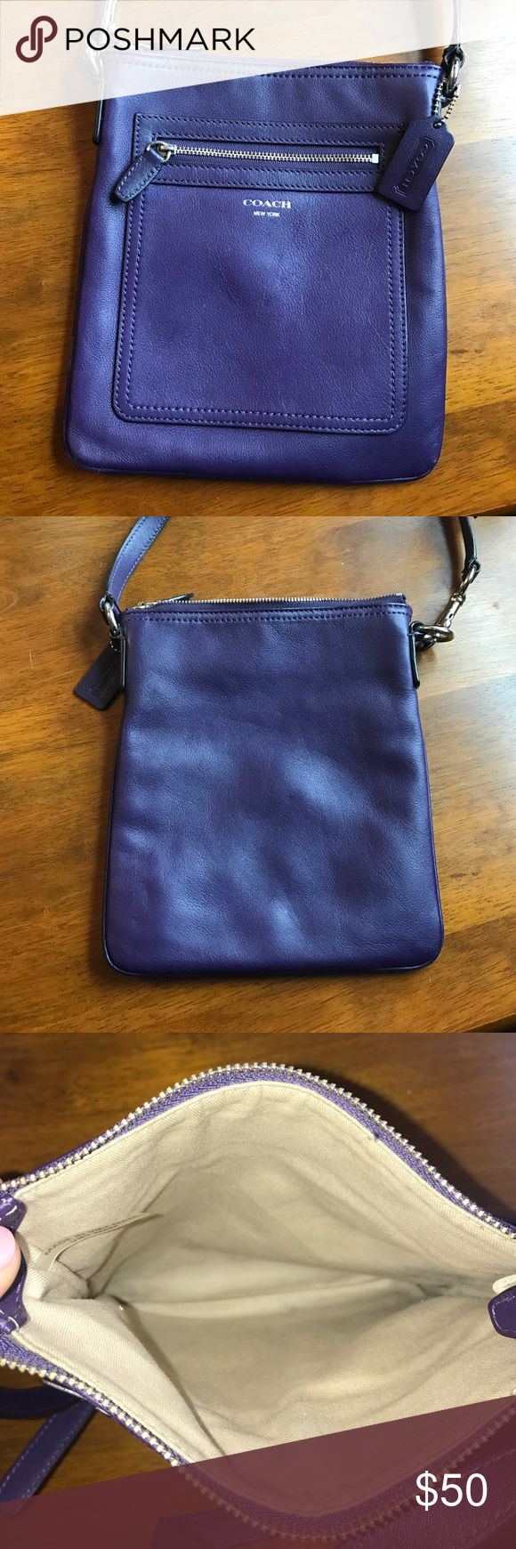 Legacy Coach Swingpack *AUTHENTIC Coach crossbody from the legacy collection with genuine smooth leather. One zip pocket on the front and no interior pockets. Lightly used Coach Bags Crossbody Bags