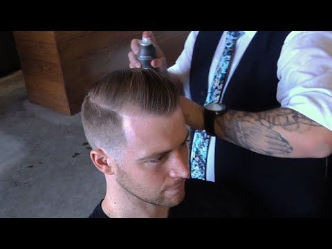 Comb Over w/ Razor Line Part | Scissor Work | Low Skin Fade | Comb Over | Barber Tutorial - YouTube