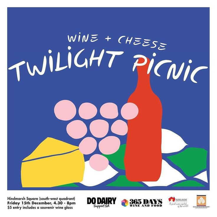 Join 15 South Australian wineries 4 cheese producers and 1 ice creamery on the south-west quadrant of Hindmarsh Square this Friday the 15th of December from 4.30pm until 8pm.  The Wine  Cheese Twilight Picnic is a great chance for a Christmas catch-up with friends or end-of-year wind-down with colleagues. The weather is looking absolutely perfect  Tap to see who will be there! . . . . . #365daysofwine #365daysofwineandfood #sawine #sawineries #southaussiewine #sawineandfoodevent…