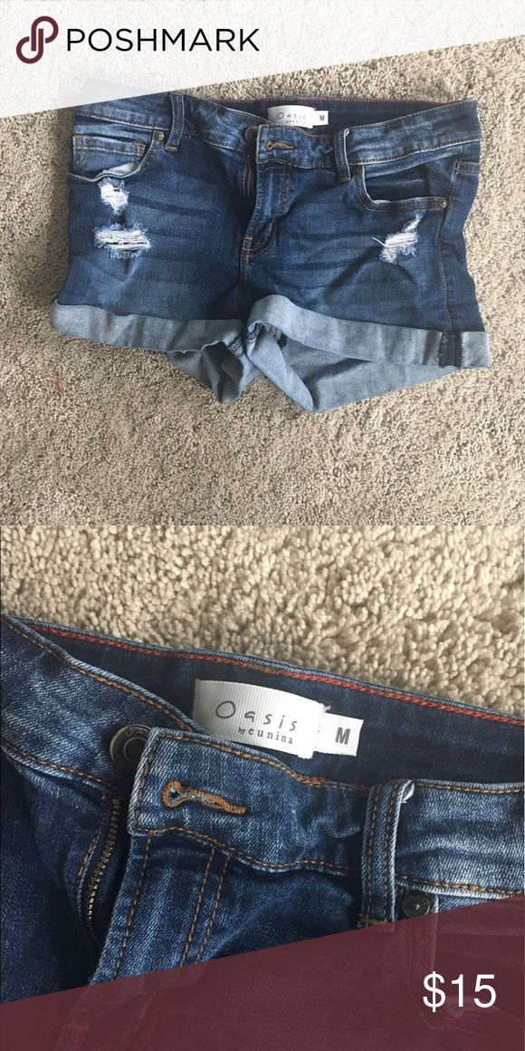 Jean shorts !!! Like new condition. Make offers :) oasis Shorts