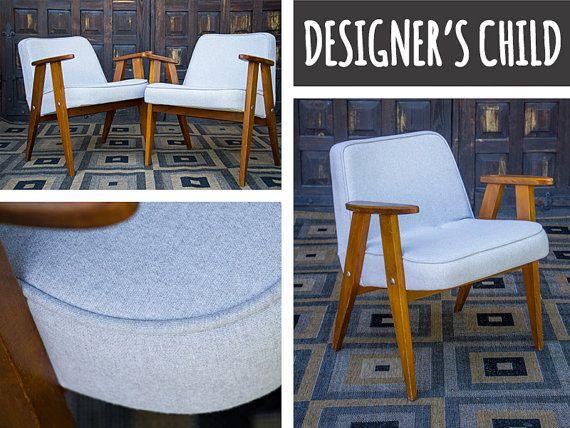 Reupholstered cocktail chair armchair vintage by DesignersChild