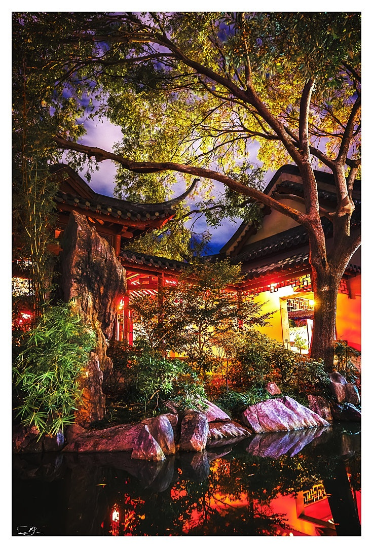 Chinese Gardens at Nite IV by mdomaradzki.deviantart.com on @deviantART