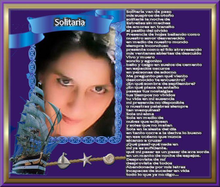 Solitaria - UNIÓN HISPANOMUNDIAL DE ESCRITORES. UHE