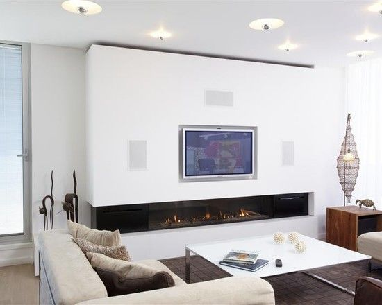 Fireplace modern living room with awesome corner - Does a living room need a fireplace ...