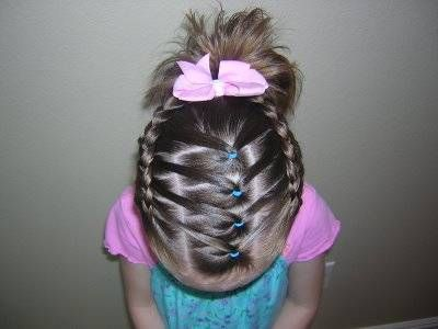 creative kids hairstyles with tutorials - this style would be great for cheer/ gymnastics/ ballet!