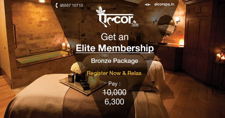 Elite Membership: Bronze Package Be a Member now and Relax... Avail this benefit now.. Avail: http://www.alcorspa.in/royal-memberships.php For Assistance, call: 7533 010 009