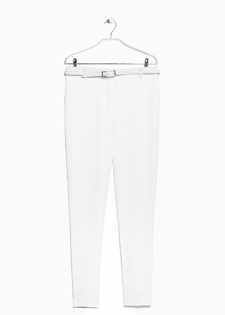 Crepe baggy trousers - and black and blue