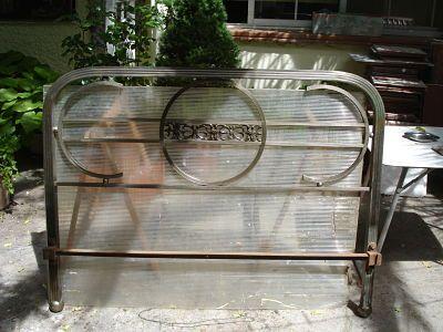 cama hierro 140 cm decoración vitange