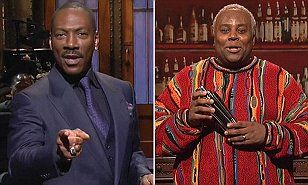 Writers on Saturday Night Live were involved in last-minute talks with Eddie Murphy, pictured, to play Bill Cosby during the 40th anniversary show. But the Shrek star pulled out of the sketch minutes before it was due to air.