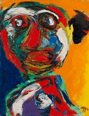 Karel Appel, Un Des Deux Freres, 1964. Oil on canvas, 39 ¼ in x 31 ¼ in.