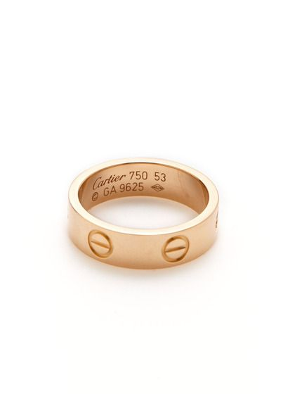 Cartier Rose Gold Love Ring by Cartier at Gilt
