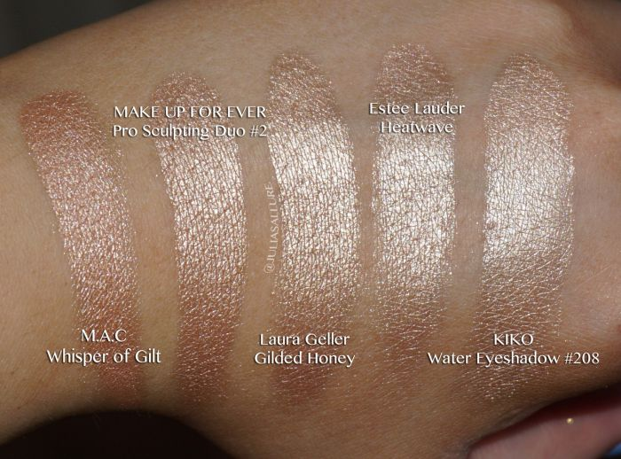 Laura Geller: Baked Gelato Swirl Illuminator in Gilded Honey - dupe for MAC Whisper of Gilt and Estee Lauder Heatwave