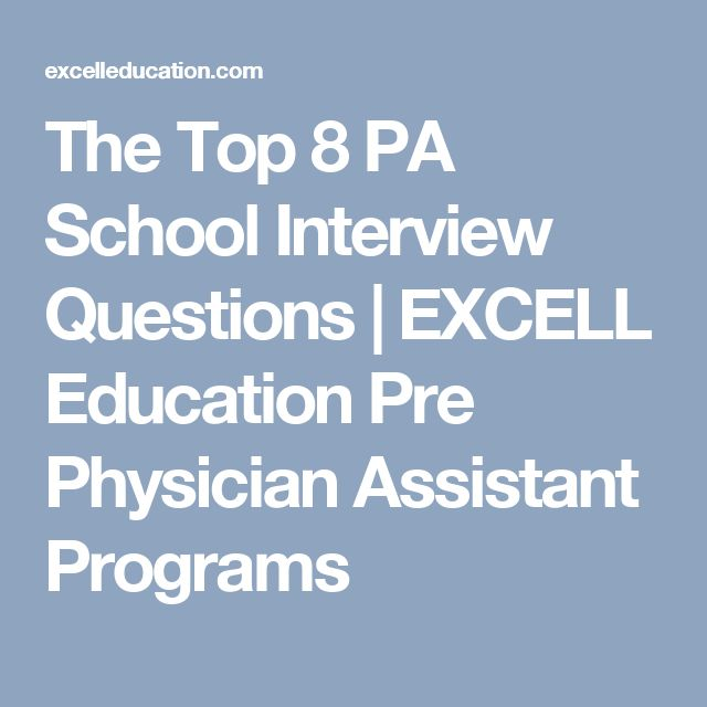 (PRINTED) The Top 8 PA School Interview Questions