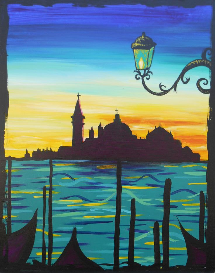 3 hour simple paintings venice at sundown large