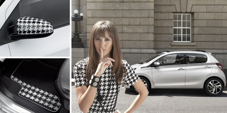 Dressy style of the #Peugeot108 #car #Peugeot #chic #look