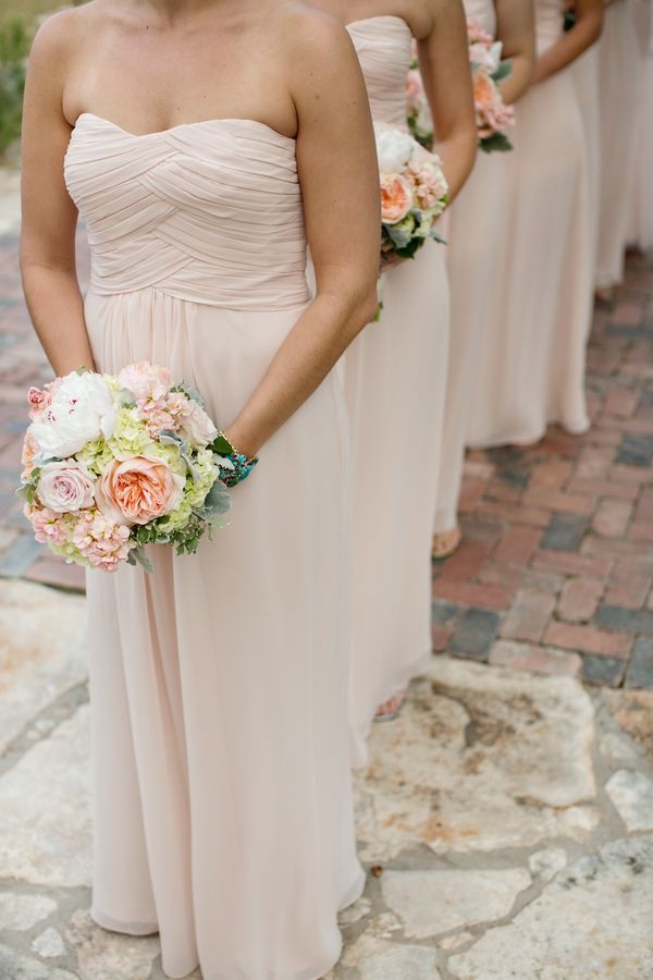 Strapless Pale Pink Bridesmaids | photography by photographybyvanessa.com