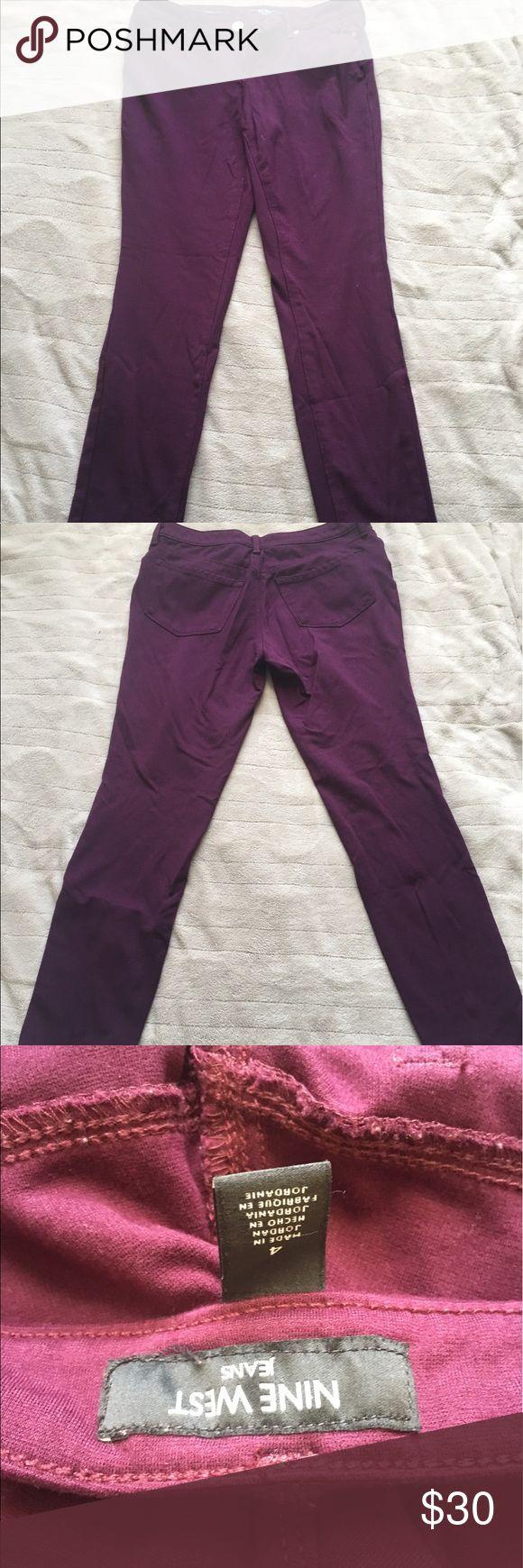 Nine West purple skinny jean. NWOT. Nine West purple skinny jean. Soft and comfy. PERFECT condition. Nine West Pants Skinny