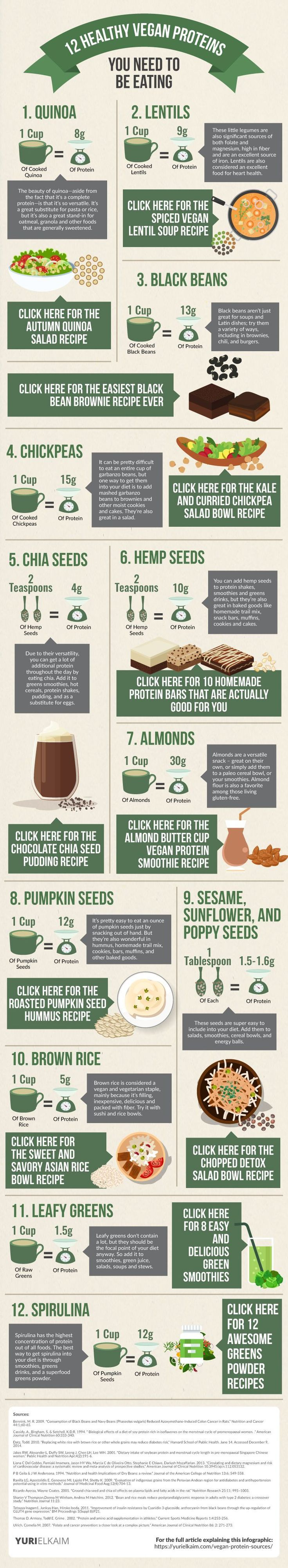 Even if you're not vegan, these 12 non-meat protein sources are the best of the best - and should be in your diet. Check them out... along with the recipes.