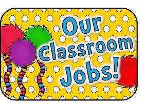 The Teaching Sweet Shoppe!: Fun and Whimsical Dr. Seuss Classroom Jobs!