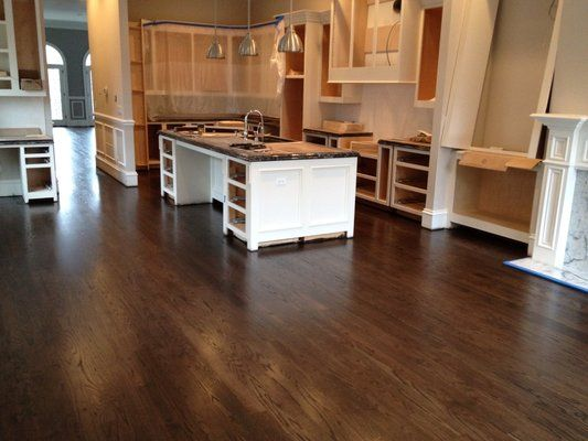 dark walnut stain on red oak floors | Site finished Red Oak with a dark Stain and Oil Base
