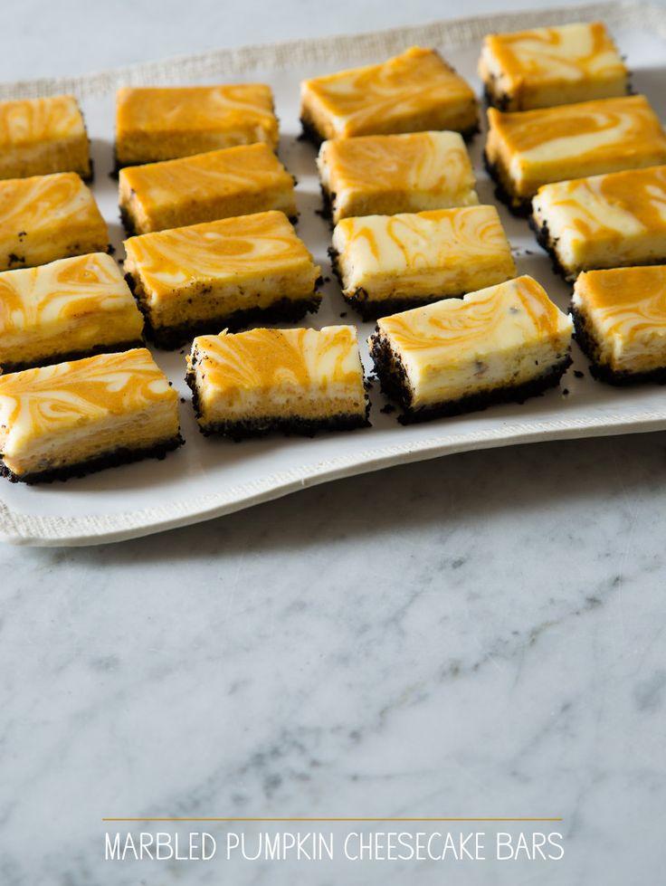Marbled Pumpkin Cheesecake Bars