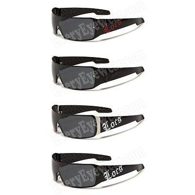 9110 Locs Sunglasses Mens Gangster Motorcycle Biker Shades Loc Glasses 4 Colors $7.95 ea ( Red One)