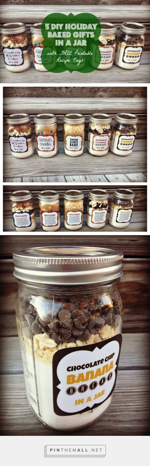 Holiday Baked Gifts | Barattoli riciclati di ricette con ingredienti scomposti per dolci... Via culdesaccool.com #FarmersXmasGifts #Christmas #Gift #Handmade #Homemade #Diy #Food