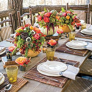 Let Nature Inspire Your Table | 77 Fall Decorating Ideas -Southern Living