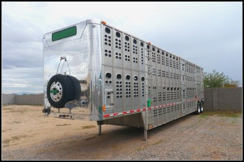 Wilson Livestock Cattle Trailer for Sale - For more information click on the image or see ad # 70481 on www.RanchWorldAds.com