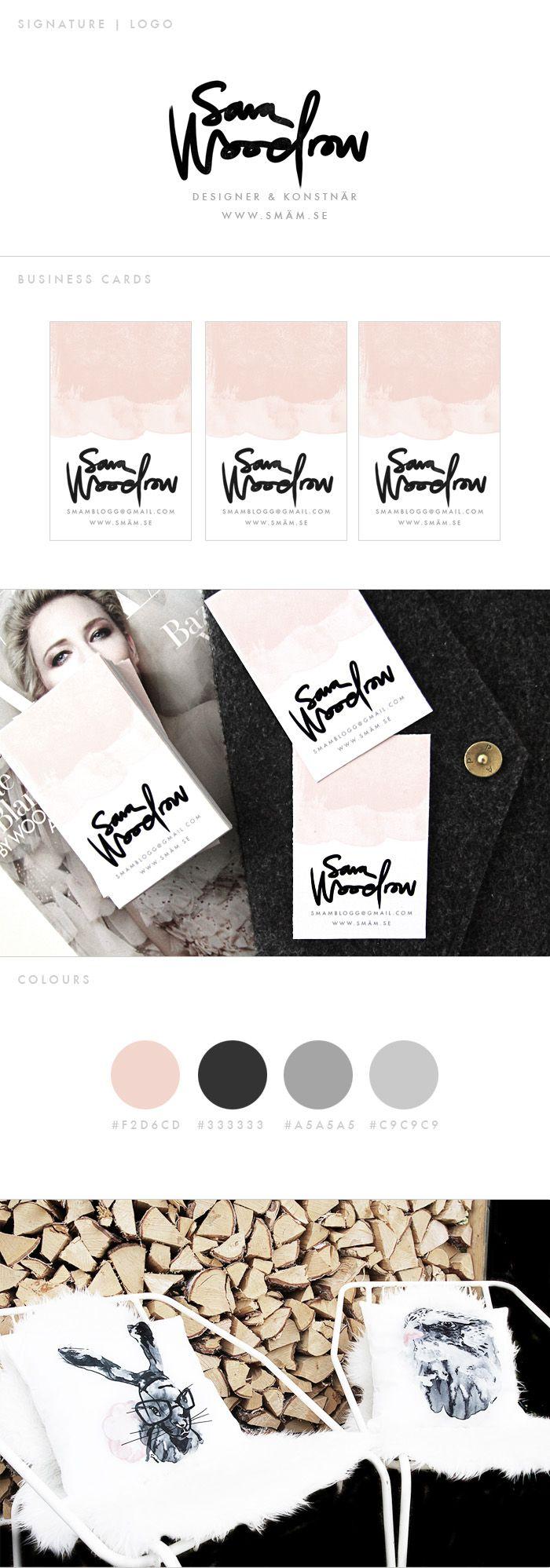 HELLO! MY NAME IS SARA - SMÄM /// #businesscard #logo