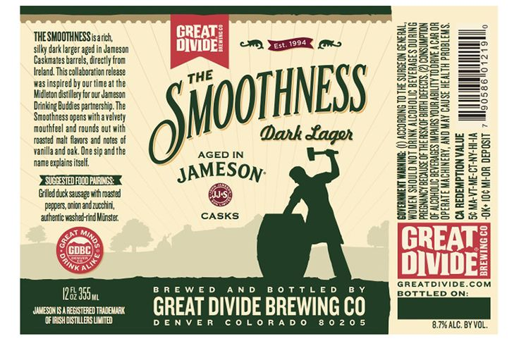 A new collaboration between Great Divide Brewing Co. and Jameson Irish Whiskeywas inspired by time spent at the Jameson Midleton distillery in Ireland. The beer isThe Smoothness, an 8.7 percent ABV dark lager that has been aged in Jameson Caskmates barrels sourced directly from Ireland.