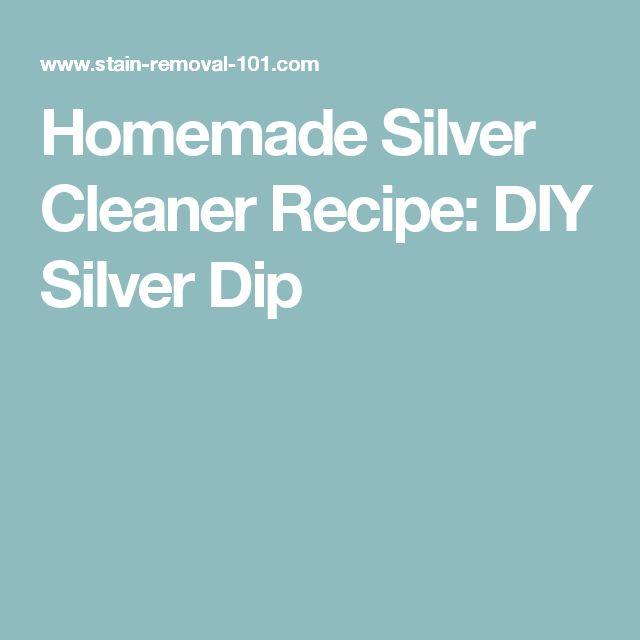 Homemade Silver Cleaner Recipe: DIY Silver Dip