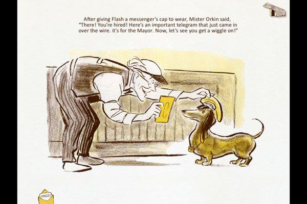 Mirip sampul buku bapak dulu,cerita tentang dachshund...