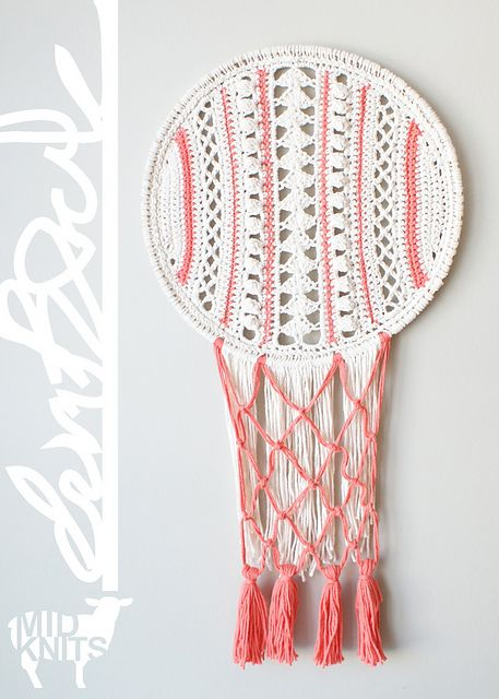 Ravelry: Lacy Dreamcatcher Inspired Wall Hanging (2015006) pattern by Erin Black