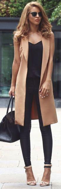 Chic and Silk: STREET STYLE: Sleeveless Jacket!