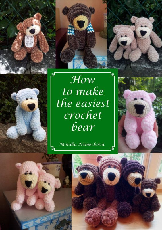 How to make the easiest crochet bear. Pattern. Step by KapitanNemo